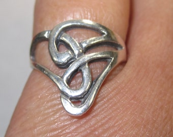 F-59 Vintage Ring size 4 3/4   925 silver