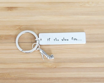 hand stamped keychain | if the shoe fits...