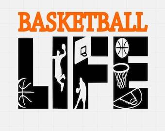 Basketball Life Svg File, Basketball Svg File, Svg For Silhoutte, Svg File For Cricut, Svg Cutting File, Quote Svg File,