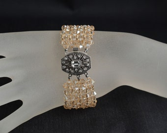 Swarovski crystal bracelet extra large crystal golden shadow