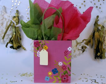 Gift Wrap Package (Pink and Floral)