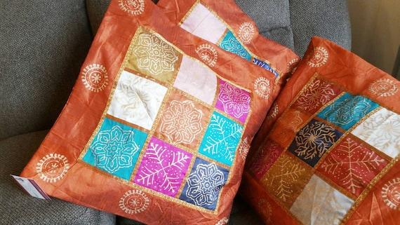 Luxury Pillowcase, hippie boho cushion, block print cushion, xmas gift for her, garden pillow, Couch Pillow, handmade, Indian Cushion