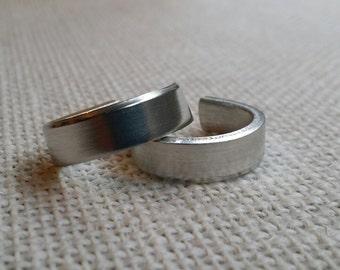 100 Polished 1/4' Ring Blanks 12 Gauge Food Safe Aluminum- FLAT