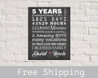 5 Year Anniversary Gift - 5th Anniversary Gift - Wedding Anniversary Gift - 5th Anniversary gift for her - Housewarming gift - Free Shipping