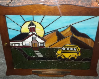 "Stained Glass Panel ""Back to School"""