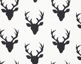 Black and Off-white bucks Crib Skirt, Deer Baby boy Bedding, Bucks, antlers, Baby Crib Skirt, deer Bedding, lumberjack bedding, Deer Crib