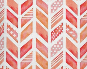 Changing Pad Cover, Coral Watercolor falling arrows, coral, pink, blush, baby girl bedding, baby girl changing pad cover, girl nursery
