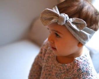 Baby Headband Grey