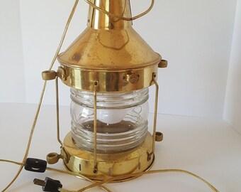 FREE SHIPPING! Dynamite Vintage Brass Nautical Ships Lantern