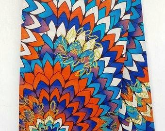 African Print / Ankara Fabric / Wax Print / African Cloth/ Bright Fabric/ Bright material