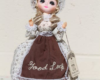 Vintage Good Luck Bradley Doll Big Eyed Collectible