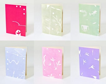 "Blank Note Cards, ""Blessings"" Assorted Kraft Box Set"