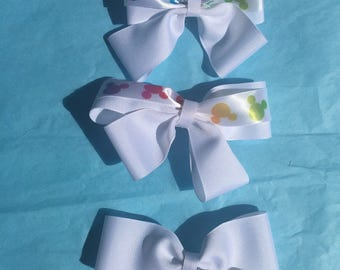 Mickey Mouse hairbow set