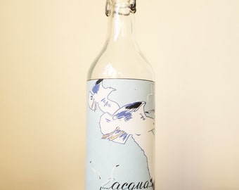 Vintage Print Water Bottle