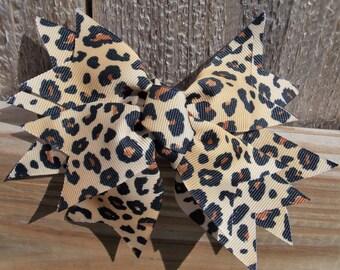 Girl's Leopard Bow