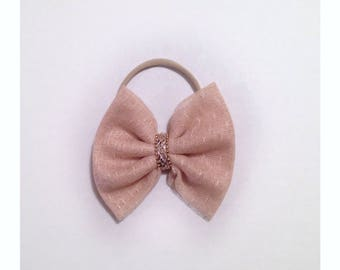 Beige Lace Hair Bow