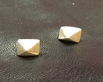4-sided Sterling/Fine Silver Pyramid Studs