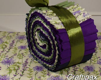 Purple Jelly Roll - 100% Cotton - Rose and Hubble - Quilting - Crafts - UK Seller