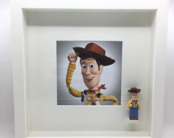 Lego Compatible Toy Story Woody Minifigure Display Frame