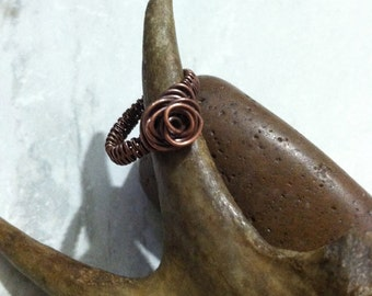 Wire Wrapped Rosette Ring