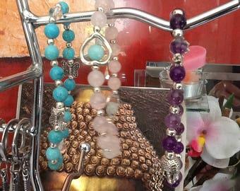 Bracelet semi-precious stones, healing, theme bracelets