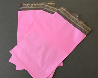 100 Light  Pink Magenta 6x9 Poly Mailers Self Sealing Envelopes Shipping Bags Valentine's Day
