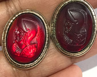 Vintage Cufflinks - Cameo . Victorian revival Jewelry