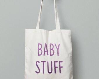 Baby stuff bag, baby bag, new mum gift, new mum bag, mum to be gift, mum gift, personalised tote bag, personalised Mum, baby shower