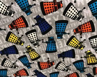 Doctor Who Tardis fabric, BBC fabric, geek fabric, tv show fabric, Dr. Who fabric