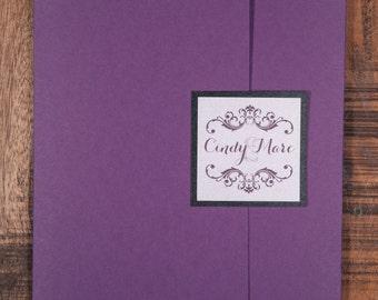 Purple And Black Wedding Invitations, Purple And Black Wedding Invitation, Purple And Black Invitations, Purple And Black Invitation
