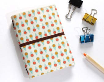 Dots Fauxdori cover, Midori, Midori cover, Midori travelers notebook, Vegan leather Fabric Fauxdori, Midori fabric, Travelers notebook cover