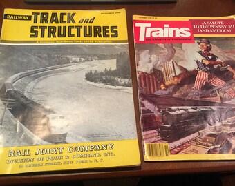 Vintage Train Magazines | Antique 1958 and 1979 Train Magazines | Vintage Train | Antique Train