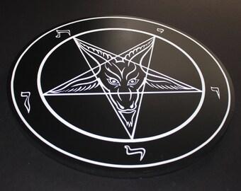 Large Sigil of Baphomet - Official Church of Satan - Licensed Carved Insignium - Anton LaVey - Wood Carved Baphomet