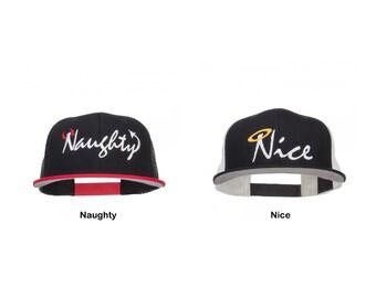 Naughty Devil & Nice Angel Embroidered Mesh Snapback