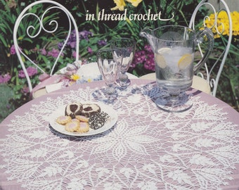 Table Toppers, American School of Needlework Crochet Pattern Booklet 1094 Elegant Tablecloths