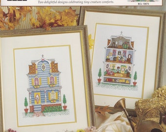Mouse House, True Colors Cross Stitch Pattern Booklet BCL-10073 RARE NEW