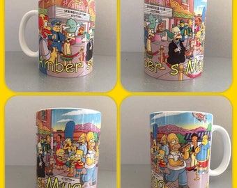 personalised mug cup the simpsons bart lisa homer marge maggie american comedy