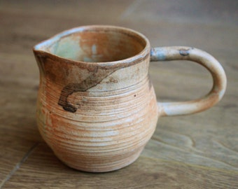 Small ceramic milk jug, pottery creamer, handmade homeware gift, wheel thrown rustic pottery