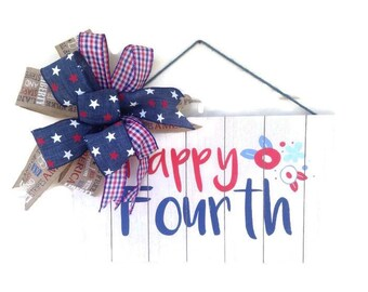 4th of july decor,4th if july wall hanging,patriotic wall hanging