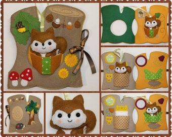 Forest Style Quiet Book, Activity Book, Busy Book, Felt Activity Book, Forest Animals, Toddler Gift