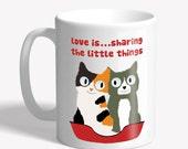 """Funny cat mug - """"lov..."""