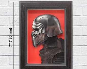 "Star Wars Layered Paper Cut Art ""Kylo Ren"""