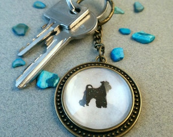 "Key fob ""Miniature schnauzer"""