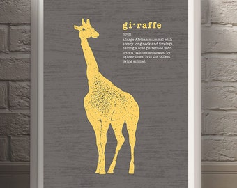Modern Giraffe Art Print, Safari Series, Instant 8x10 download, printable