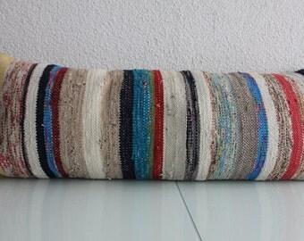 woven lumbar pillows long pillows lumbar multi kilim lumbar pillow 16x42 kilim pillow cover long lumbar 40x106 cm oversized cushion lumbar 1