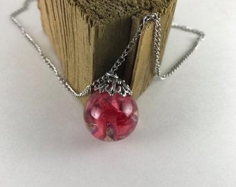 Flower petal necklace
