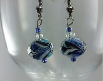 aqua marine earrrings