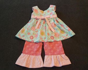 CUSTOM MADE 2 piece toddler pants outfit