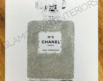 Perfume Canvas Glitter Canvas