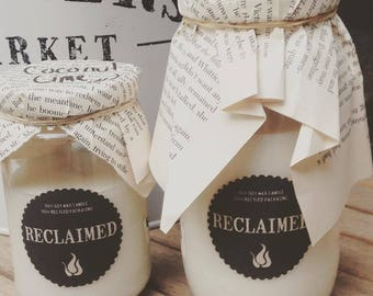 Natural Eco Soy Candles in 100% Recycled Packaging